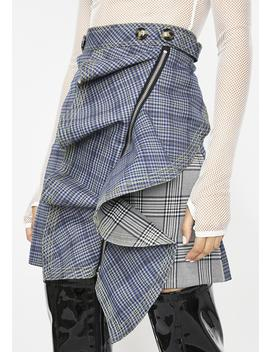 Style Maven Plaid Skirt by Moon Collection