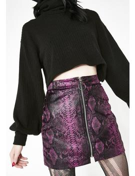Slitherin' In Ya D Ms Mini Skirt by Dance Marvel
