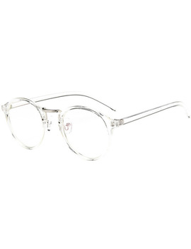 Fashion Transparent Round Glasses Clear Frame Women Spectacle Myopia Glasses  Men Eye Glasses Frame Nerd Optical Frames Clear by Red Bean