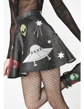 Space Invasion Mini Skirt by Current Mood