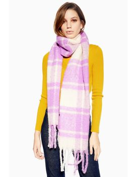 Heavy Plaid Bright Scarf by Topshop