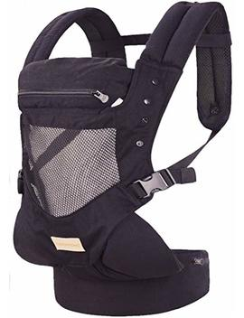 Infant Toddler Baby Carrier Wrap Backpack Front And Back, Hip Seat & Hood,  Soft & Breathable Cotton, Cool Air Mesh, Black by Tian Cai Yi Ding