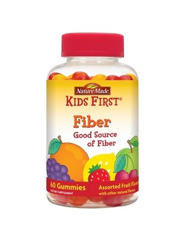 Nature Made Kids First Fiber Gummies   Fruit Flavors   60ct by Nature Made