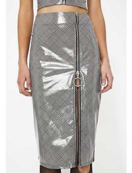 Crushing Hard Vinyl Pencil Skirt by Clara Story