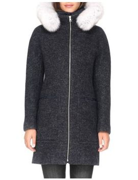 Fox Fur Trim Puffer Coat by Soia & Kyo