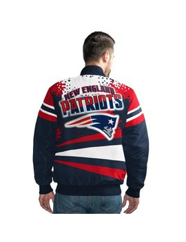New England Patriots Men's Extreme Navy Alpha Full Snap Jacket by Licensed Sports Apparel