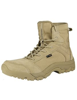 Free Soldier Men's Lightweight Tactical Boots   Desert Tan by Free Soldier