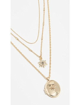 Star And Locket Layered Necklace by Bauble Bar