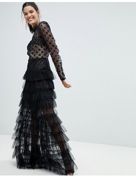 Bronx And Banco   Robe Longue En Tulle à Pois by Bronx And Banco