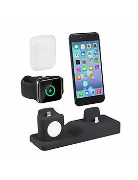 Compatible Apple Watch I Watch Charging Dock   3 In 1 Premium Silicone Charger Dock Charging Base Compatible I Phone/Air Pods / Apple Watch Series 1/2/3 38... by Tlt Retail
