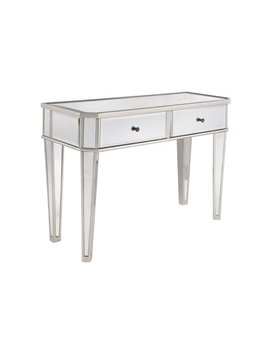 "Powell Mirrored Console With ""Silver"" Wood by Powell"