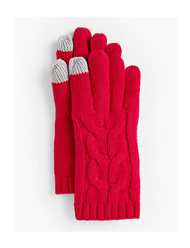 Soft Cable Touch Gloves by Talbots