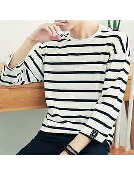 Kanyo   Striped 3/4 Sleeve T Shirt by Kanyo