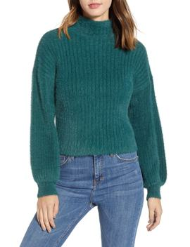 Ribbed Mock Neck Sweater by Prima