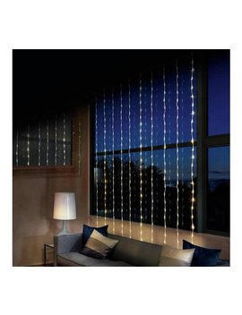 Premier Decorations 10m Led Waterfall Curtain Lights   White by Argos