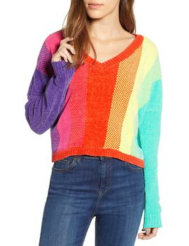Chenille Rainbow Stripe Sweater by Ten Sixty Sherman