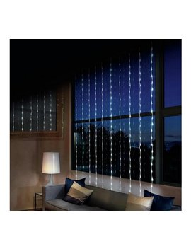 240 Led Waterfall Curtain Lights   White by Argos