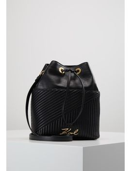 Signature Quilted Bucket   Across Body Bag by Karl Lagerfeld