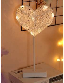 10pcs Bulbs Heart Shaped Table Lamp by Romwe