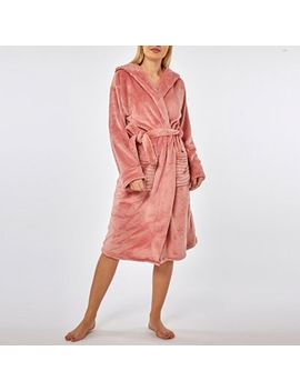 Dorothy Perkins   Rose Clipped Sparkle Hood Robe by Dorothy Perkins