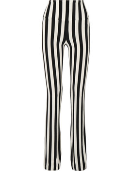 Striped Stretch Jersey Bootcut Pants by Norma Kamali