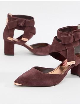 Zapatos De Tacón Cuadrado De Ante Con Diseño Anudado En La Pierna De Ted Baker by Asos