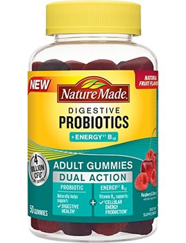 Nature Made Digestive Probiotics + Energy B12 Gummies, 50 Count by Nature Made