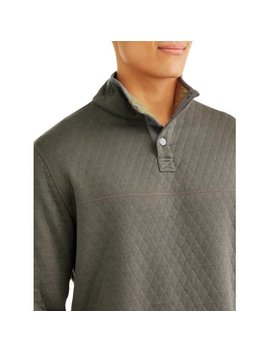 Swiss Tech Mens Reversible Snap Pullover Sweater, Up To Size 5 Xl by Swiss+Tech