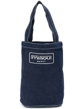 Embroidered Logo Tote Bag by Miaou