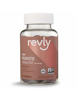 Amazon Brand – Revly Probiotic 2 Billion Cfu, 60 Gummies, 1 Month Supply, Vegan, Non Gmo by Revly