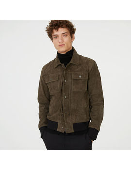 Suede Trucker Jacket by Club Monaco