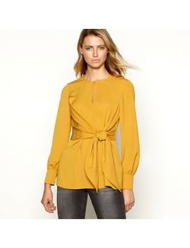 Principles   Gold Tie Front Longline Blouse by Principles