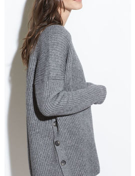 Ribbed Button Cardigan by Vince