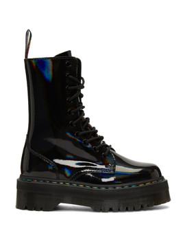 Black Rainbow Jadon Platform Boots by Dr. Martens