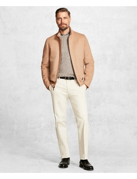 Golden Fleece® Wool And Camel Hair Bomber by Brooks Brothers