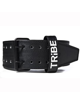 "Tribe Lifting Leather Weight Lifting Belt | 4"" Wide By 5mm Thick 