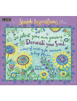 The Lang Companies 19991001878 Simple Inspirations 2019 Full Sized Wall Calendar by Amazon