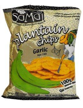 Samai Plantain Chips Garlic, 2.65 Ounce (Pack Of 15) by Samai