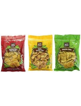 Inka Chips Gluten Free Plantain Chips 3 Flavor 6 Bag Variety Bundle: (2) Inka Chips Sweet Plantain Chips, (2) Inka Chips Original Plantain Chips, And (2) Inka Chips Chili Picante Plantain Chips, 3.25 4 Oz.... by Inka Chips