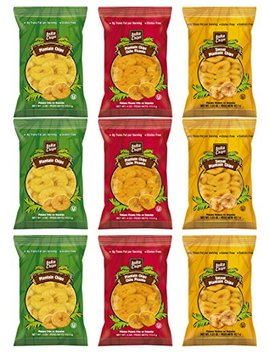 Inka Plantain Chips Variety Pack Sampler, Large Family Size Bags, 3.25 Ounce (9 Count) by Custom Varietea