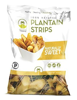 Artisan Tropic Plantain Strips Naturally Sweet   Your Tasty And Healthy Snack Alternative   Paleo, Gluten Free, Vegan, Non Gmo   Made With Sustainable Palm Oil And No Added Sugar 4.5 Oz (2 Pack) by Artisan Tropic