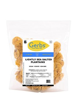 Lightly Sea Salted Plantains, 2 Lbs – Unsulfured & Preservative Free   Top 12 Allergy Friendly & Non Gmo By Gerbs by Gerbs