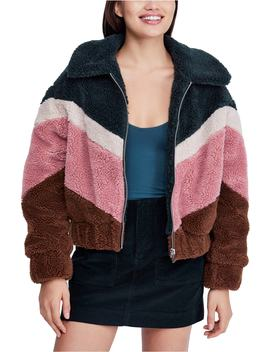 Urban Outfitters Chevron Teddy Coat by Bdg