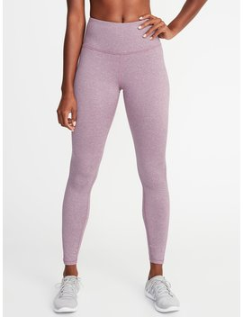 High Rise Fleece Performance Leggings For Women by Old Navy