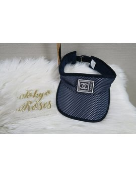 Chanel Vintage Sports Line Sun Visor Hat Navy by Etsy