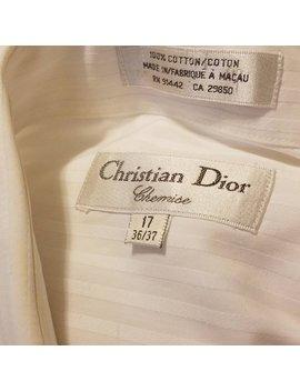 Dior Dress Shirt   Christian Dior White Long Sleeve Shirt. Size 17 by Etsy