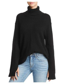 Seamed Cashmere Turtleneck Sweater   100 Percents Exclusive by Aqua Cashmere