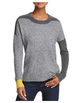 Color Block Cashmere Sweater   100 Percents Exclusive by Aqua Cashmere