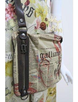 John Galliano Gazette Newspaper Print Crossbody Bag Purse by Etsy