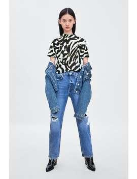 Texture T  Shirtnew In Trf by Zara